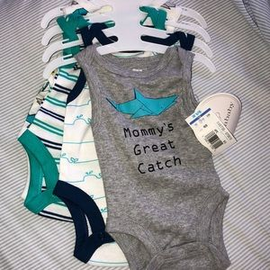 Set of 4 adorable tank top onesies